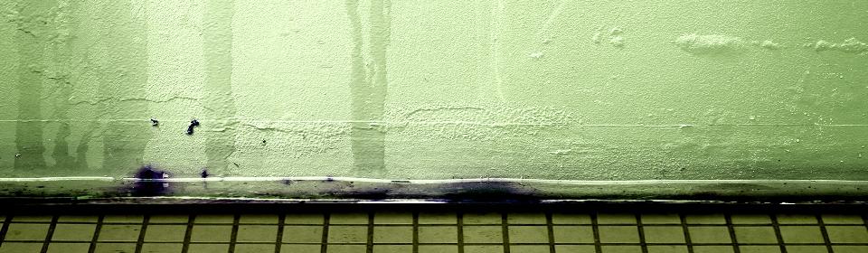 muur met lekkage